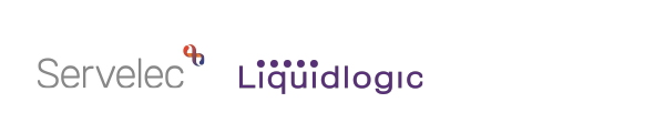Logos of Servelec and Liquidlogic, both suppliers of case management systems